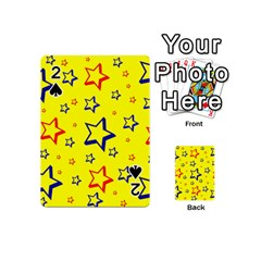 Star Yellow Red Blue Playing Cards 54 (mini)  by AnjaniArt