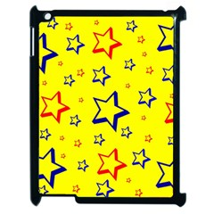 Star Yellow Red Blue Apple Ipad 2 Case (black) by AnjaniArt