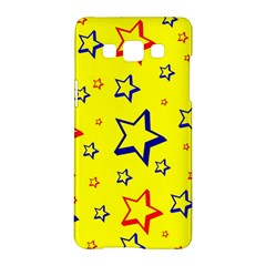 Star Yellow Red Blue Samsung Galaxy A5 Hardshell Case  by AnjaniArt