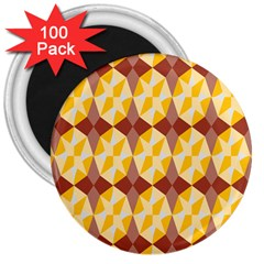 Star Brown Yellow Light 3  Magnets (100 Pack) by AnjaniArt