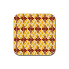 Star Brown Yellow Light Rubber Square Coaster (4 Pack)  by AnjaniArt