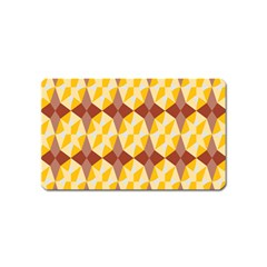 Star Brown Yellow Light Magnet (name Card) by AnjaniArt