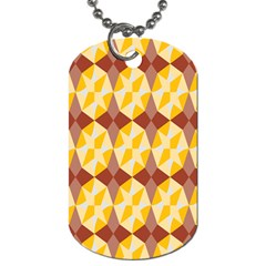 Star Brown Yellow Light Dog Tag (two Sides) by AnjaniArt