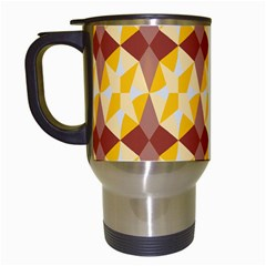 Star Brown Yellow Light Travel Mugs (white) by AnjaniArt