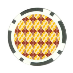 Star Brown Yellow Light Poker Chip Card Guard by AnjaniArt