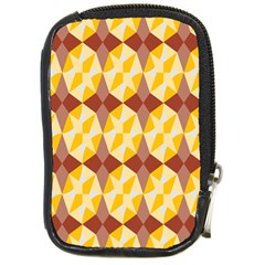 Star Brown Yellow Light Compact Camera Cases by AnjaniArt