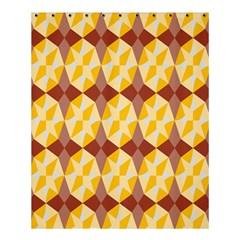 Star Brown Yellow Light Shower Curtain 60  X 72  (medium)  by AnjaniArt