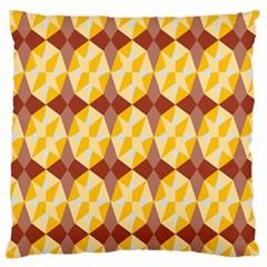 Star Brown Yellow Light Large Flano Cushion Case (two Sides) by AnjaniArt