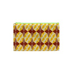 Star Brown Yellow Light Cosmetic Bag (xs) by AnjaniArt
