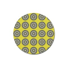 Sunflower Magnet 3  (Round) by AnjaniArt