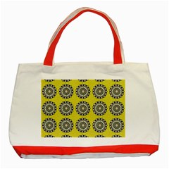 Sunflower Classic Tote Bag (red) by AnjaniArt