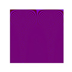 Stripy Purple Small Satin Scarf (square) by AnjaniArt