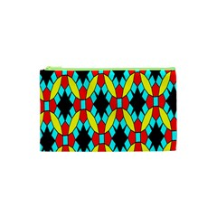 Tiling Flower Star Cosmetic Bag (xs) by AnjaniArt