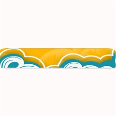 Summer Sea Water Wave Tree Yellow Blue Small Bar Mats by AnjaniArt