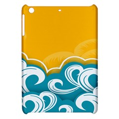 Summer Sea Water Wave Tree Yellow Blue Apple Ipad Mini Hardshell Case by AnjaniArt