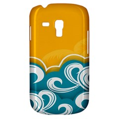 Summer Sea Water Wave Tree Yellow Blue Galaxy S3 Mini by AnjaniArt