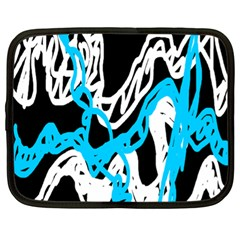Tangled Rope Blue White Netbook Case (xl)  by AnjaniArt