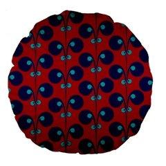 Texture Bright Circles Large 18  Premium Flano Round Cushions by AnjaniArt