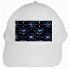Third Eye Purple White Cap by AnjaniArt