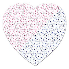 Triangle Red Blue Jigsaw Puzzle (heart) by AnjaniArt