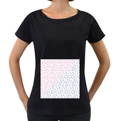Triangle Red Blue Women s Loose-Fit T-Shirt (Black) by AnjaniArt