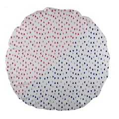 Triangle Red Blue Large 18  Premium Flano Round Cushions by AnjaniArt