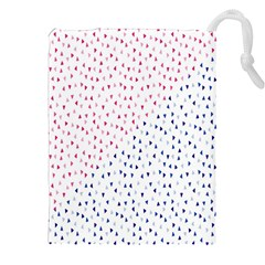 Triangle Red Blue Drawstring Pouches (xxl) by AnjaniArt