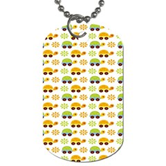 Turtle Green Yellow Flower Animals Dog Tag (one Side) by AnjaniArt