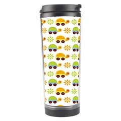 Turtle Green Yellow Flower Animals Travel Tumbler by AnjaniArt