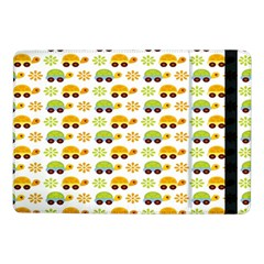 Turtle Green Yellow Flower Animals Samsung Galaxy Tab Pro 10 1  Flip Case by AnjaniArt