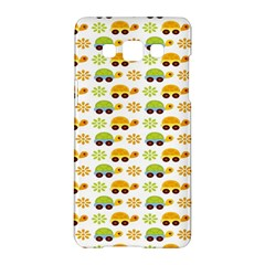 Turtle Green Yellow Flower Animals Samsung Galaxy A5 Hardshell Case  by AnjaniArt