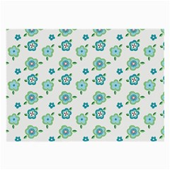 Valentine Chevron Papers Flower Floral Green Flowering Large Glasses Cloth (2 Side) by AnjaniArt