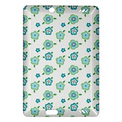 Valentine Chevron Papers Flower Floral Green Flowering Amazon Kindle Fire Hd (2013) Hardshell Case by AnjaniArt