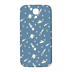 Twiddy Space Saturnus Plane Star Month Rocket Blue Sky Samsung Galaxy S4 I9500/i9505  Hardshell Back Case by AnjaniArt