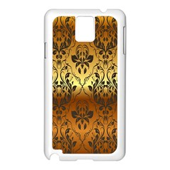 Vintage Gold Gradient Golden Resolution Samsung Galaxy Note 3 N9005 Case (white) by AnjaniArt