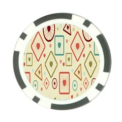 Wheel Love Valentine Poker Chip Card Guard (10 Pack) by AnjaniArt
