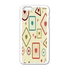 Wheel Love Valentine Apple Iphone 6/6s White Enamel Case by AnjaniArt
