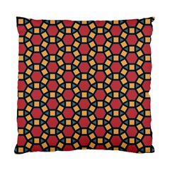 Tiling Flower Star Red Standard Cushion Case (two Sides) by AnjaniArt