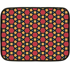 Tiling Flower Star Red Double Sided Fleece Blanket (mini)  by AnjaniArt