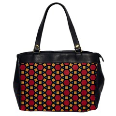 Tiling Flower Star Red Office Handbags by AnjaniArt