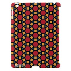 Tiling Flower Star Red Apple Ipad 3/4 Hardshell Case (compatible With Smart Cover) by AnjaniArt