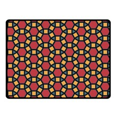 Tiling Flower Star Red Double Sided Fleece Blanket (small)