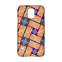 Wallpaper Overlaid Brown Line Purple Blue Box Samsung Galaxy S5 Hardshell Case  by AnjaniArt