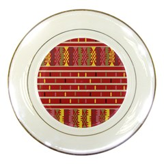 Woven Fabric Pink Porcelain Plates by AnjaniArt