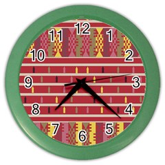 Woven Fabric Pink Color Wall Clocks by AnjaniArt