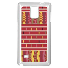 Woven Fabric Pink Samsung Galaxy Note 4 Case (white) by AnjaniArt