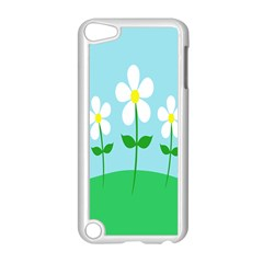 Flower Floral Blue Sky Green Leaf Apple Ipod Touch 5 Case (white) by AnjaniArt