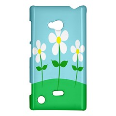 Flower Floral Blue Sky Green Leaf Nokia Lumia 720 by AnjaniArt
