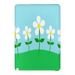 Flower Floral Blue Sky Green Leaf Samsung Galaxy Tab Pro 10 1 Hardshell Case by AnjaniArt