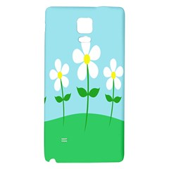 Flower Floral Blue Sky Green Leaf Galaxy Note 4 Back Case by AnjaniArt